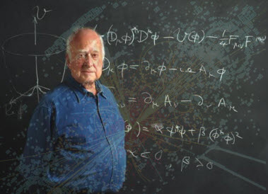 Professor Peter Higgs at the University of Edinburgh
