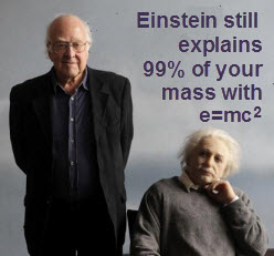 Einstein still explains 99% of your mas with e=mc^2
